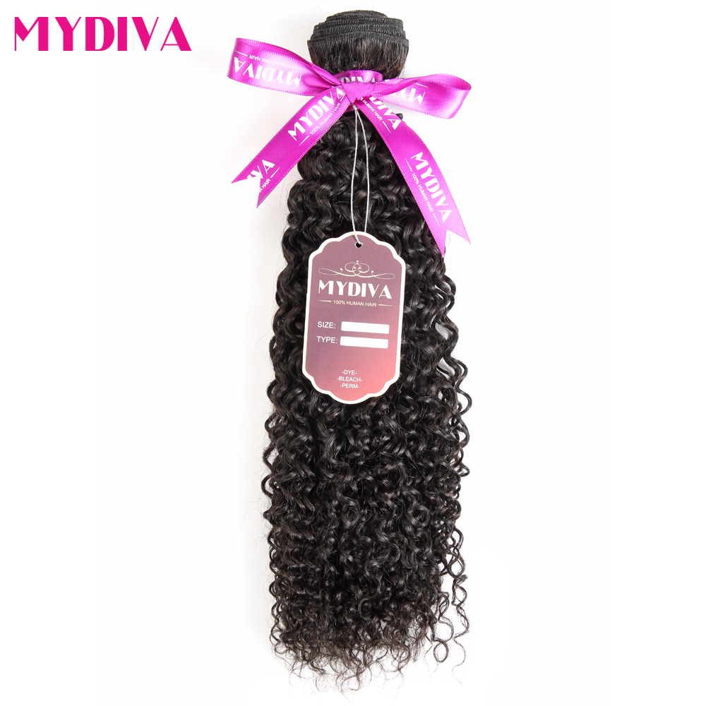 Mongolian Kinky Curly Hair Bundle 100% Human Hair 30 Inch Bundles Non Remy Hair Weave Extension Natural Color Can Buy 3/4 Bundle