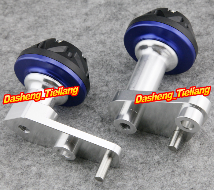 For Yamaha 2003-2010 YZF R6 Motorcycle Frame Sliders Protector Crash 03-10, BLUE Color, Spare Parts Supplies