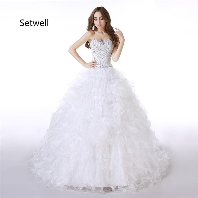 Setwell 2017 vestido de Bola Vestidos de Novia de Lentejuelas ...