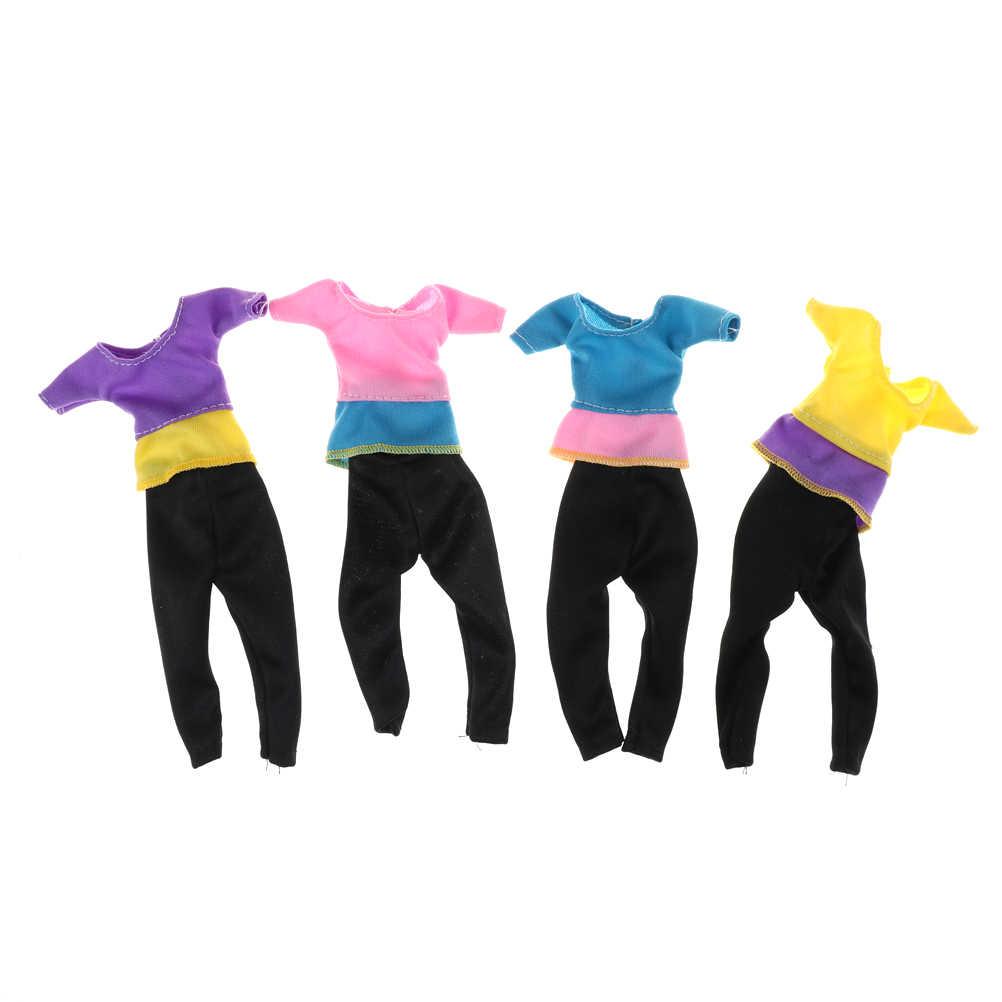 Мода 1 комплект одежды для куклы Повседневная одежда Блузка ручной работы девушки костюм для babi аксессуары игрушки подарок Лидер продаж