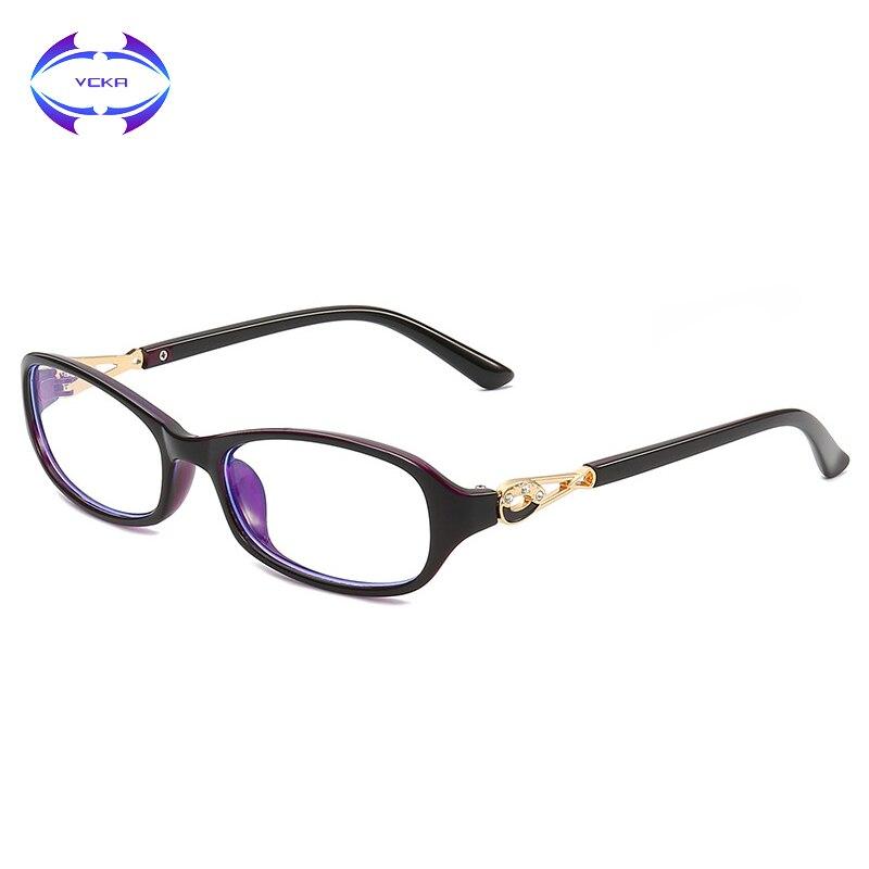 VCKA Women Glasses Frame Anti Blue Light Blocking Computer Eyeglasses Vintage Blaulicht Optical Spectacle Gafas Luz Azul
