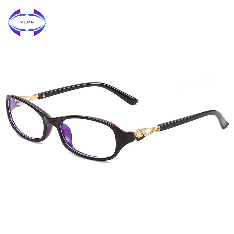 VCKA mujer, gafas de marco de bloqueo de luz computadora gafas Vintage blaulicht ópticos gafas luz azul