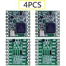 4 قطعة RFM95 RFM95W 868Mhz 915Mhz RFM95 868MHz جهاز إرسال واستقبال لاسلكي LoRaTM SX1276 RFM95 915MHz