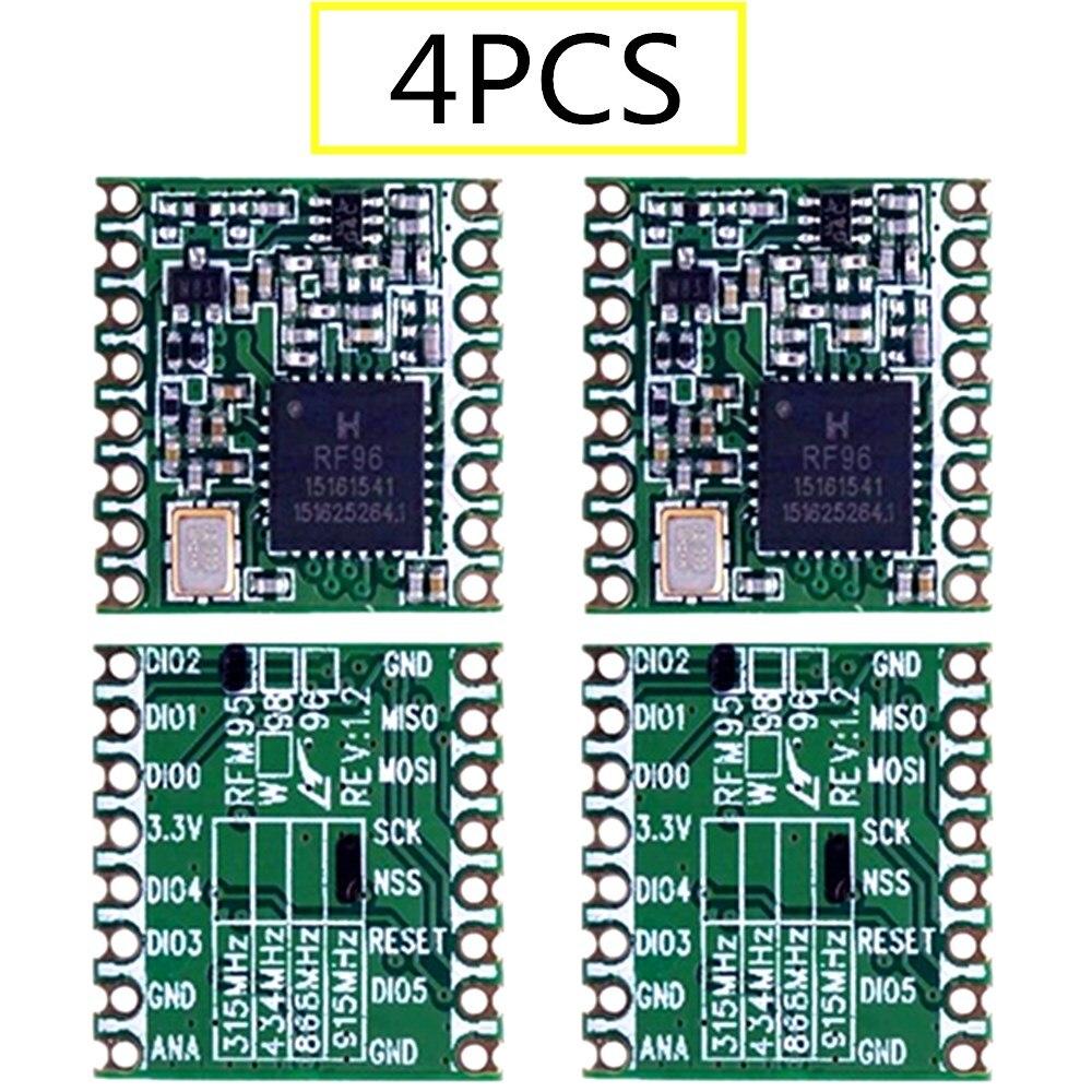 4PCS RFM95 RFM95W 868Mhz 915Mhz RFM95-868MHz RFM95-915MHz LoRaTM Wireless Transceiver  SX1276