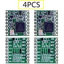 4PCS RFM95 RFM95W 868Mhz 915Mhz RFM95 868MHz RFM95 915MHz LoRaTM Wireless Transceiver  SX1276