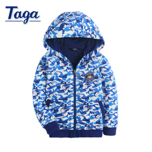 3-15 TAGA Kids Boys Coat 2016 New Autumn Children Clothes Baby Boy Hoodie Cotton Big Virgin Cardigan Kids Clothes Hot Jacket
