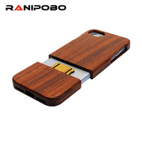 100% Natural Wood Hard Back Case For iPhone 7 6 6S Plus SE 5 5s Real Wooden Walnut Rosewood Bamboo Phone Cases for iPhone7 Cover