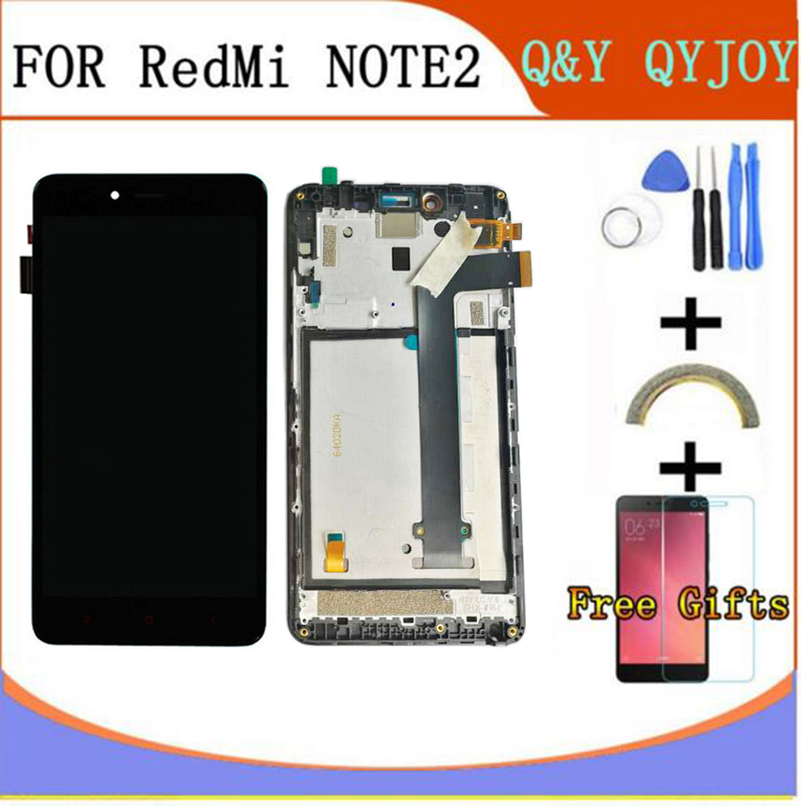 LCD Display+Digitizer Touch Screen Assembly For Xiaomi Redmi Note 2 Hongmi Note2 Cellphone With Frame Free ShippingLCD Display+Digitizer Touch Screen Assembly For Xiaomi Redmi Note 2 Hongmi Note2 Cellphone With Frame Free Shipping