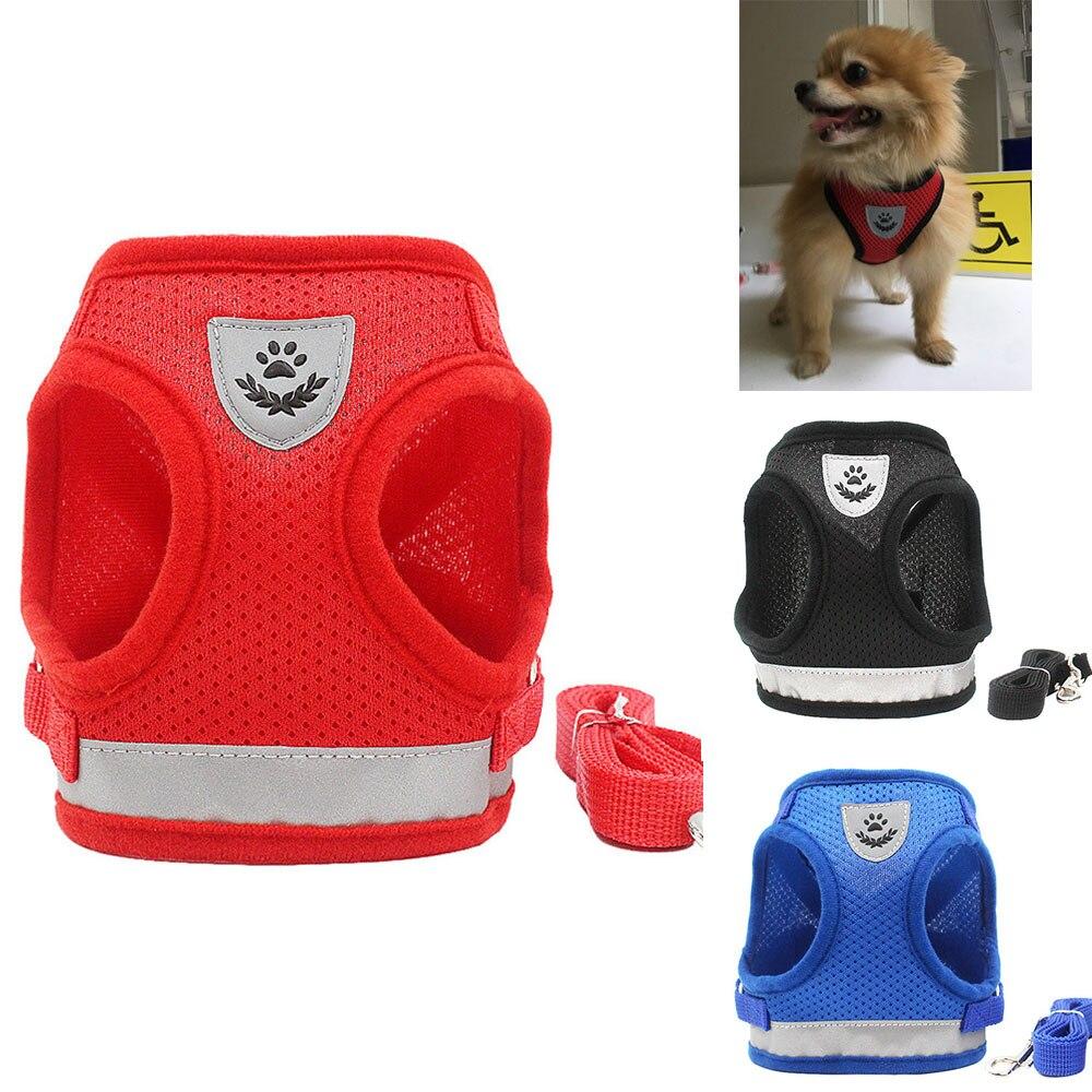 Nylon Cat Harness And Leash Set Reflective Kitten Puppy Dogs Jacket Mesh font b Pet b
