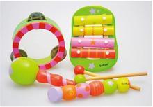 5 teile/satz Das kind holz spielzeug rasseln die flöte knock knock die ball klavier instrument kombination maracas