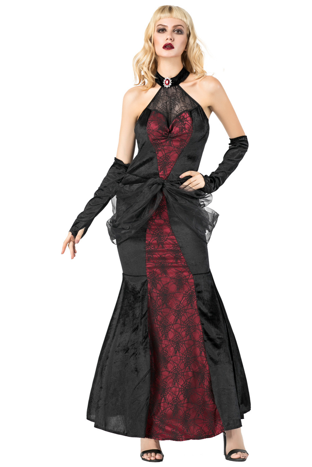 Queen Witch Dress Cosplay Costumes Adult Women fancy Party spider dresses Halloween araneid Witch Performance Dress