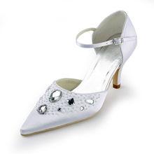 Satin spitz high heels lady kristall schuhe klassische OL hochzeit pumgs zwei stücke satin schuhe Zapatos De Boda RR-092 YY
