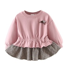 2019 Spring Baby Girls Dresses Long Sleeve Floral Dress For Girls Kids Children Princess Clothes Dresses цены онлайн