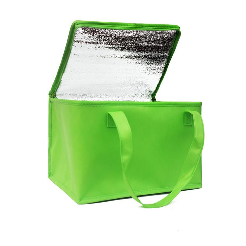 Foldable Large Cooler Bag Portable Food Cake Insulated Bag Aluminum Foil Thermal Box Waterproof Ice Pack Lunch Box Delivery Bag