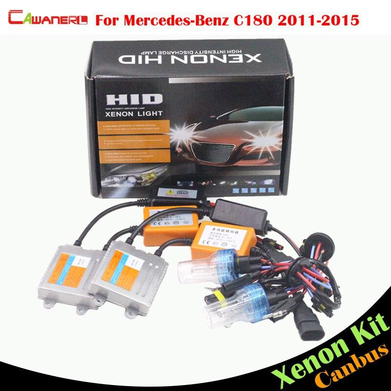 Cawanerl 55W Car Light No Error HID Xenon Kit Bulb Ballast AC Auto Headlight Low Beam For Mercedes Benz W204 C180 2011-2015