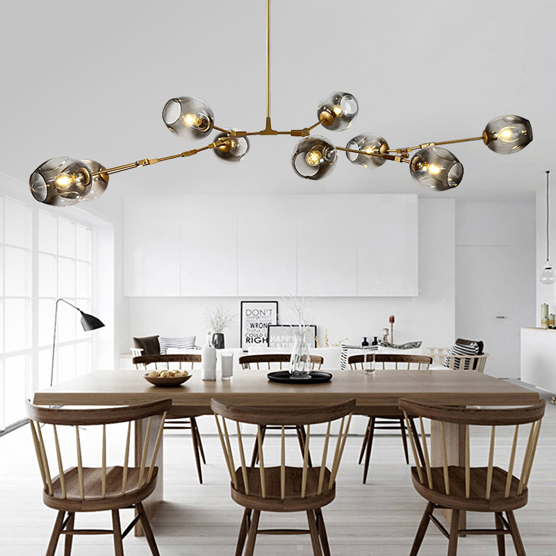 Nordic Modern Glass Pendant Light Dining Living Room Kitchen Light Lindsey Adelman Globe Branching Bubble Hanging Lamps 110V220V точечный светильник donolux dl18614 01ww sq alu black