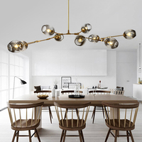 Nordic Modern Glass Pendant Light Dining Living Room Kitchen Light Lindsey Adelman Globe Branching Bubble Hanging Lamps 110V220V