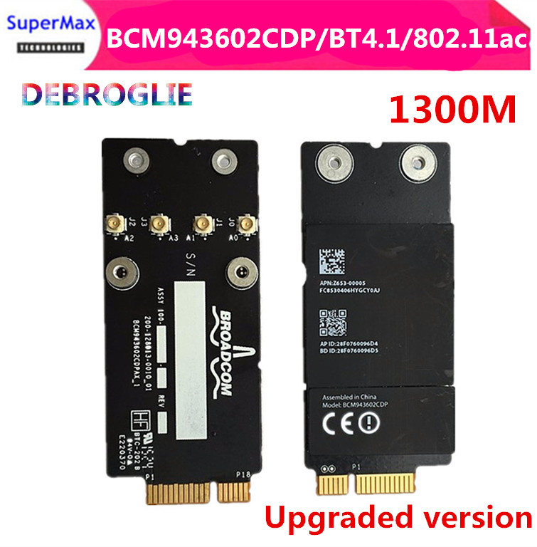 2015 year A1418 A1419 BCM943602CDP Bluetooth 4.1 1300M 2.4&5G wifi card BCM94360CD Upgraded version-in Network Cards from Computer & Office