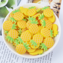 Happy Monkey In Stock 20pcs/pack Slime Supplies Resin Fruit Slime DIY Accessories Toy Filler for Fluffy Clear Slime Toy
