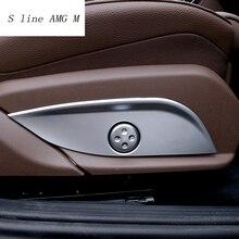 Автомобильный Стайлинг хромированное сиденье регулировка кнопки включения крышка панели Накладка для Mercedes Benz GLC/CLS/E/C класс W205 W212 W213 автомобильные аксессуары