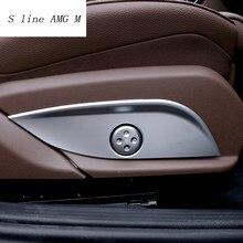 Car styling Chrome regulacja siedziska pokrywa przycisku przełącznika wykończenie panelu dla Mercedes Benz GLC/CLS/E/C klasa W205 W212 W213 akcesoria samochodowe