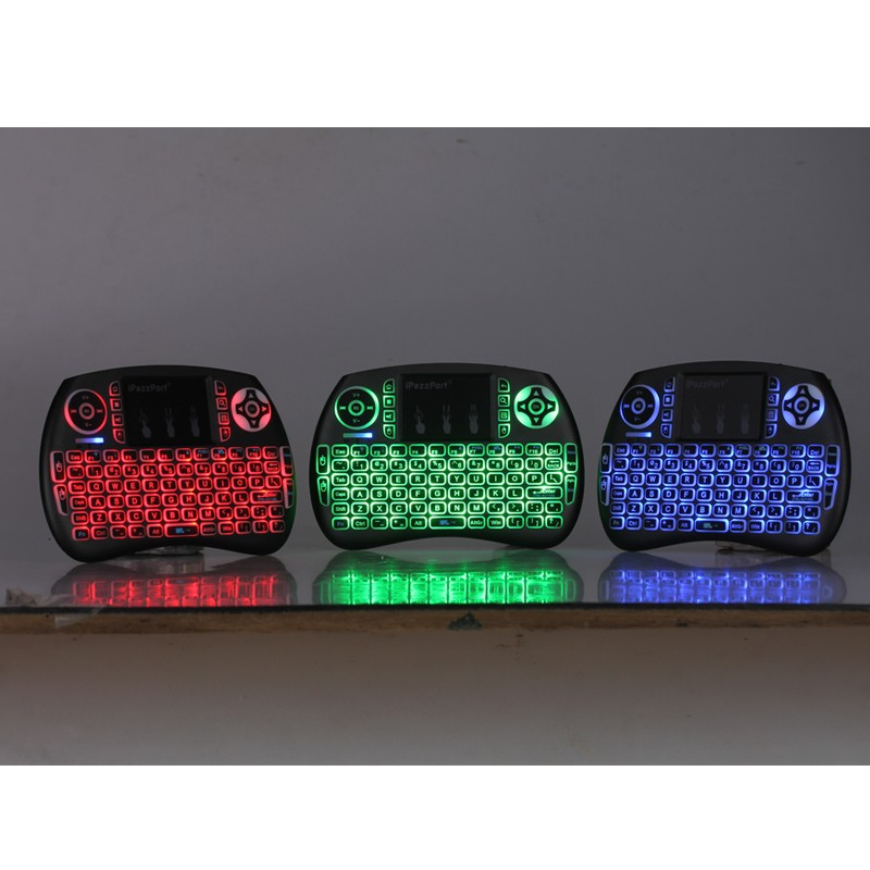 Pcocean Mini Wireless Backlight Keyboard <font><b>Air</b></font> <font><b>Mouse</b></font> Remote Control 2.4 GHz USB Touchpad Keyboard For Android TV Box Table