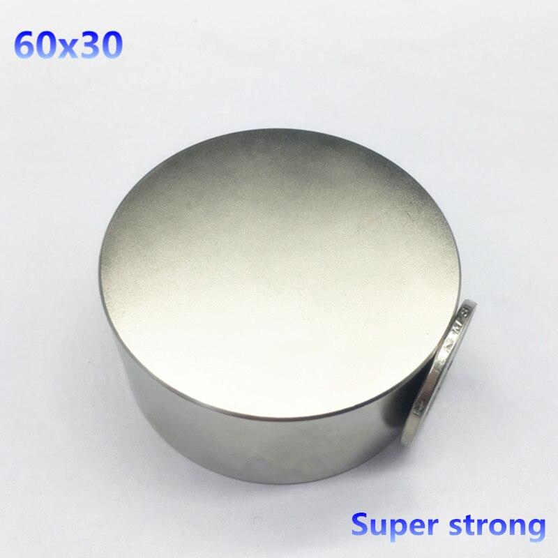 1 pcs 60mm x 30mm Ronde Cylindre Néodyme Aimants Permanents 60*30 NOUVEAU 60x30mm Art Artisanat Connexion