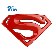 Hot-sale 3D 3M chrome emblem Auto logo Superman badge metal Motorcycle accessories Car styling Funny car stickers