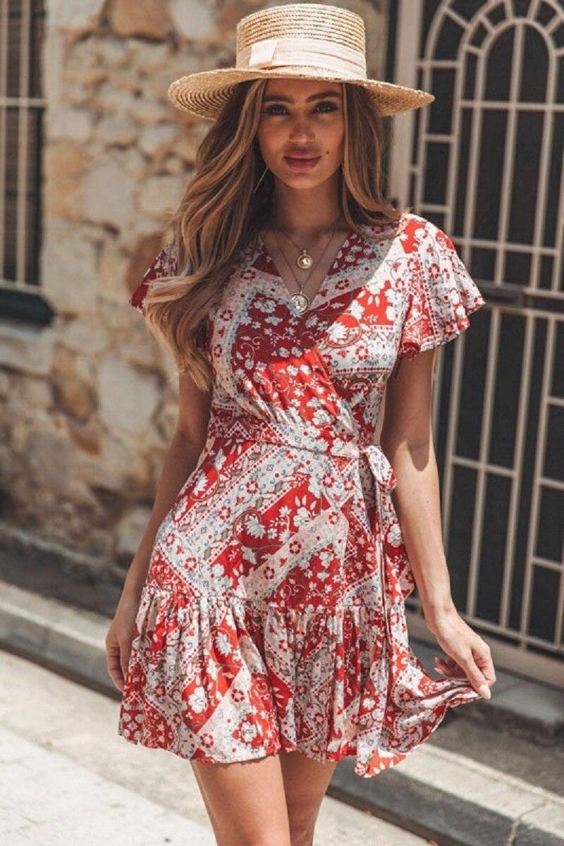 w75949-18_dress_redpaisley-7_3 (1) vieunsta vintage floral imprimir praia vestido de verão das mulheres novas com decote em v plissado uma linha de mini vestido elegante vestido plissado vestido de verão cinto - HTB1u7DQaI vK1Rjy0Foq6xIxVXa9 - VIEUNSTA Vintage Floral Imprimir Praia Vestido de Verão Das Mulheres Novas Com Decote Em V Plissado Uma Linha de Mini Vestido Elegante Vestido Plissado Vestido de Verão Cinto