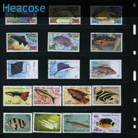 250 Pieces Fish All Postage Stamps Different Used Brands Label Selos Marca Carimbo Franqueo Marca Matasellos