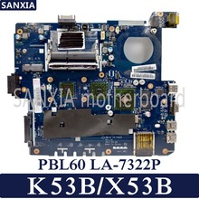 KEFU PBL60 LA-7322P Laptop motherboard for ASUS X53B K53B X53 original mainboard with video card стоимость