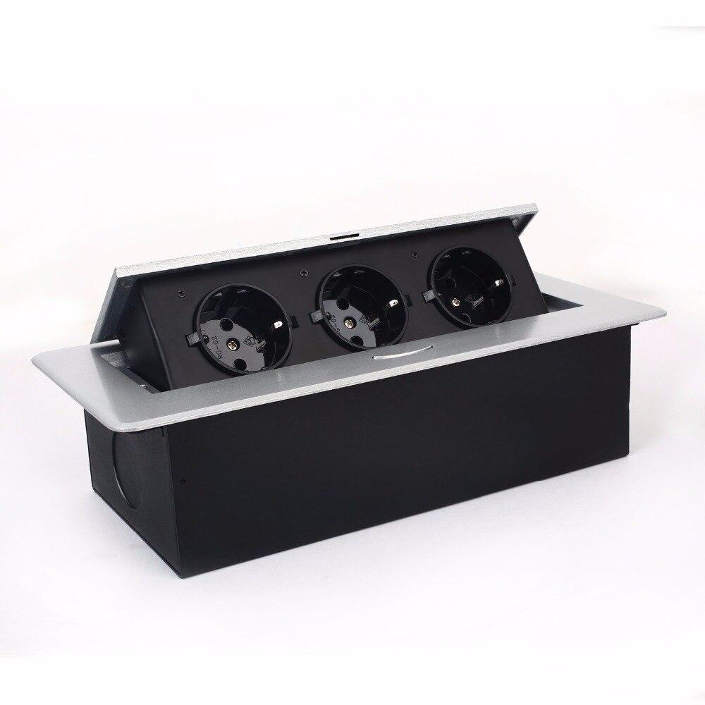 цена на Hot sales /Pop-up socket /EU plug Tabletop socket/hidden/ Damping spring open Information outlet /Office desktop socket /A12