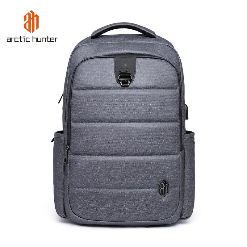 ARCTIC HUNTER Laptop Backpack Travel 17 inch Waterproof Backpack Men Multifunction Daypack USB Charging arctic hunter 2018 usb charging waterproof backpack men 15 6 inch laptop backpacks travel bag
