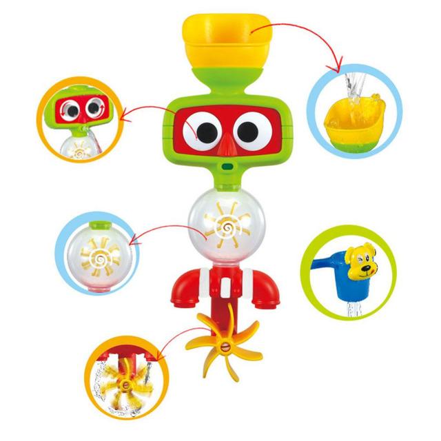 2016 hot multicolor divertidos brinquedos do banho do bebê play automático bico torneiras/sustentada dobrável brinquedo spray chuveiros torneira play com água