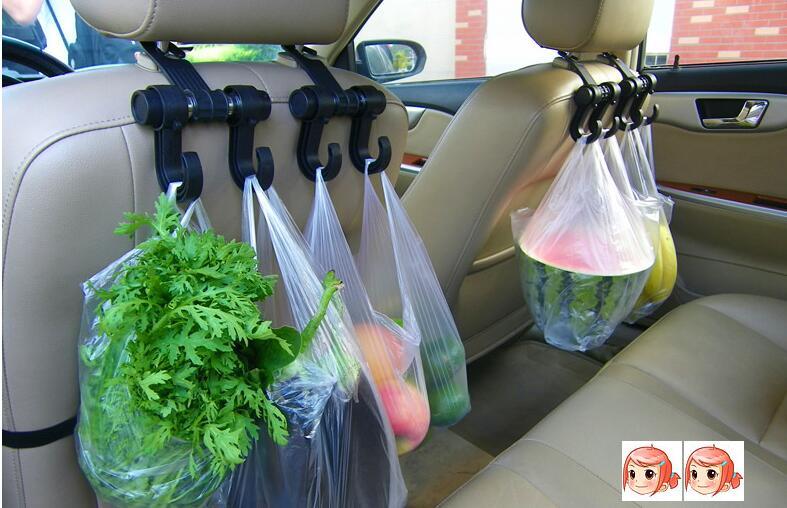 Home Vehicle Groceries Universal Fit Car Bag Bottle Truck Headrest Bag Holder Hook Chair Adjustable Fashionable Patterns