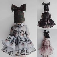 INS 2016 AUTUMN WINTER BABY BOY CLOTHES BABY GIRL CLOTHES KIDS RABBIT PRINT CHRISTMAS KIKIKIDS DRESSES