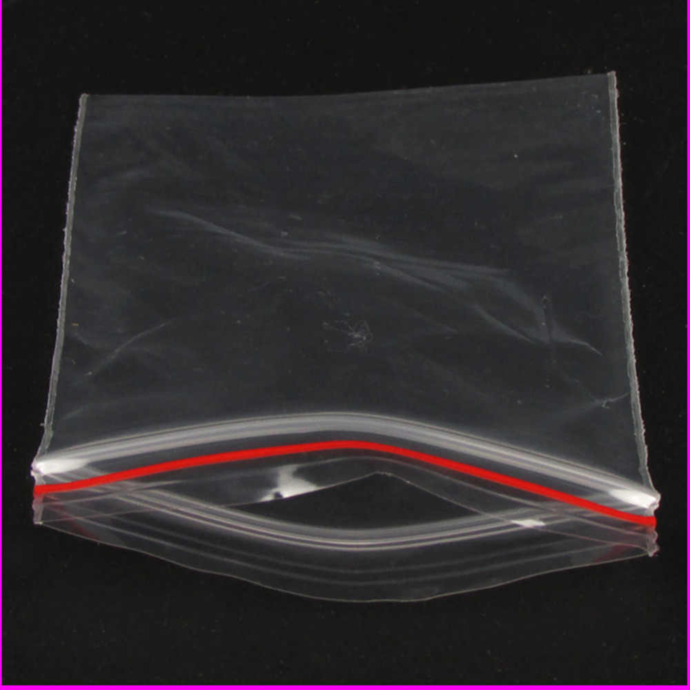 100Pcs 6X8CM Zip Lock Bags Clear Poly Bag Reclosable Plastic Small Baggies Gift Candy Package Gifts Bags & Pouches