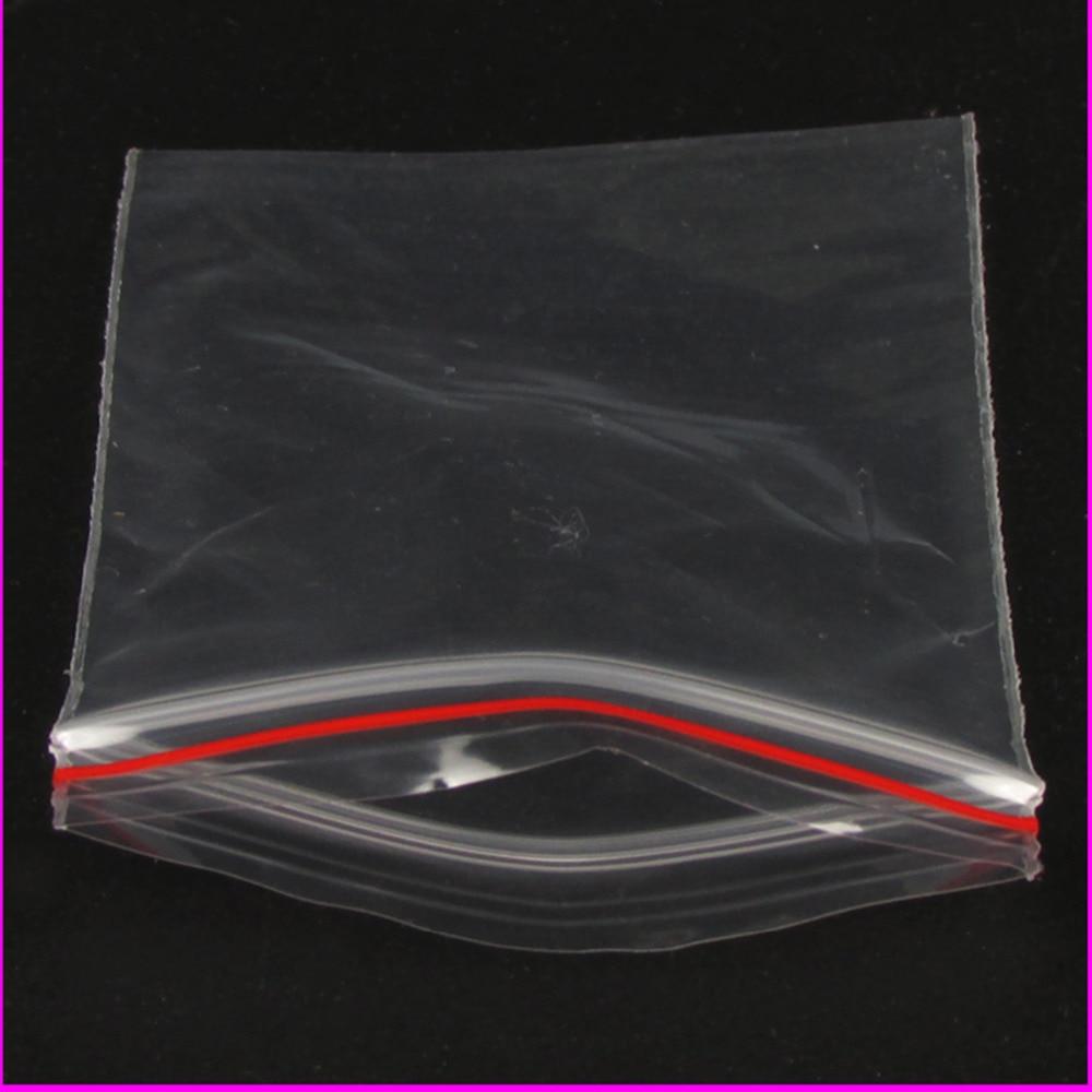 Sacs en plastique refermables 100 pièces 6x8cm à fermeture éclair, pochettes en plastique transparent, sachets cadeaux pour bonbons