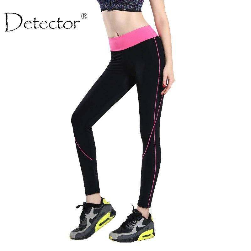 Prix pour Detector Femmes Yoga Leggings Sport Haute Taille Mince Running Fitness Workout Printemps Hiver Femmes Legging pantalon
