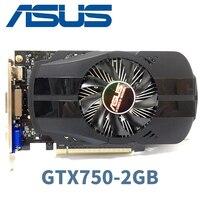 Asus GTX-750-FML-2GB GTX750 2 Гб D5 DDR5 128 бит PC оригинальный ASUS видеокарта настольных PCI Express 3,0