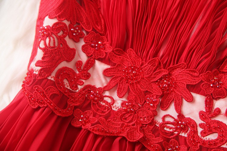Весна Лето дизайнерские женские платья красные темно синие с вышитыми бисером цветами плиссированные модные брендовые до колен платья для мероприятий