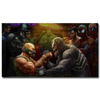 Плакат гобелен шелковый Бейн против Венома