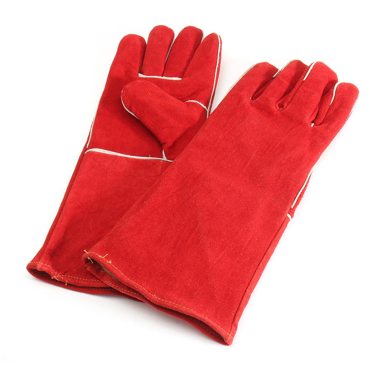Safurance 15.7'' Heat Resistant Melting Furnace Gloves Fire High Temperature Protection XL Workplace Safety