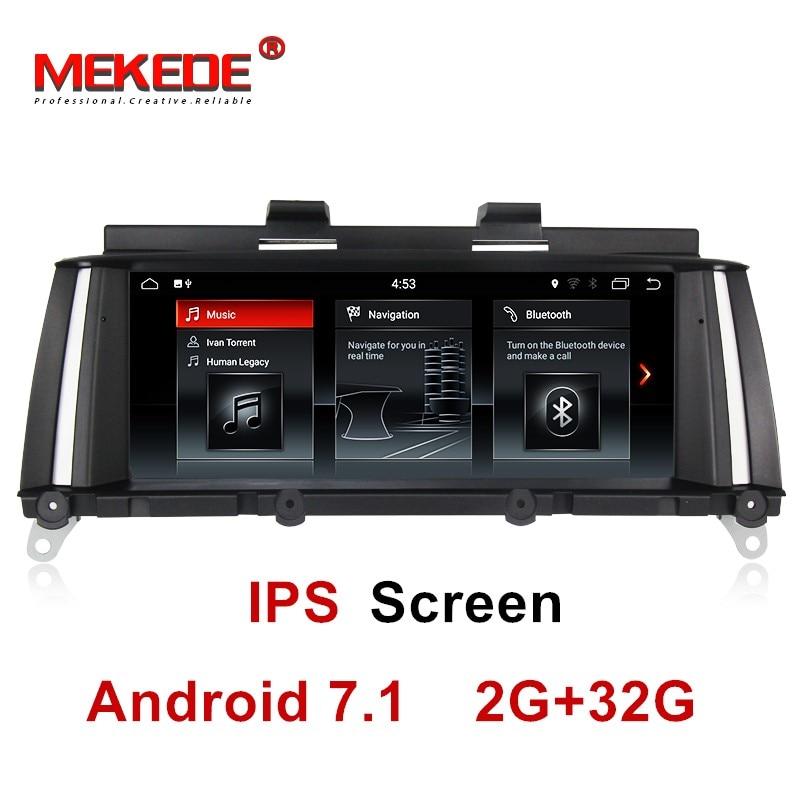 IPS écran 2 gb + 32 gb android 7.1 DVD de Voiture lecteur Multimédia pour BMW X3 F25 2010-2013 d'origine CIC/NBT Système gps navigation radio