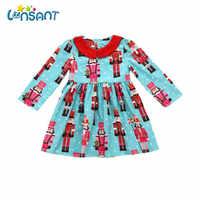 Lonsant 2019 verão menina vestido de manga longa vestidos estampados algodão crianças roupas vestidos infantil menina dropshipping