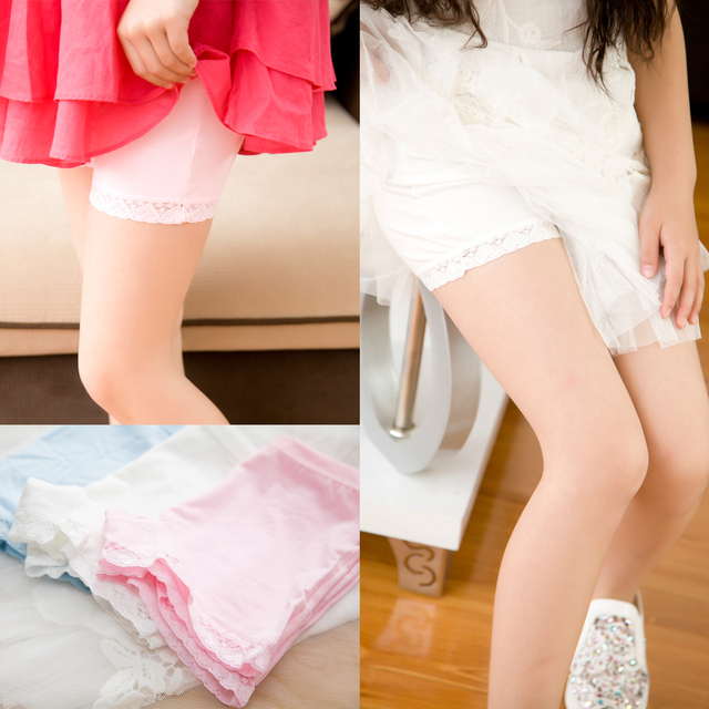 388633f8b8e2 2pcs/lot 100% Cotton Kids Panties Underwear for Children Baby Lace Under  Briefs Girls Shorts Knickers Underpants for3-9Y TNN0071