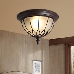 IWHD amerykańska lampy sufitowe do salonu oprawy oświetleniowe do domu Loft stylu żelaza lampora Techo kreatywny szkło lampa LED Avize