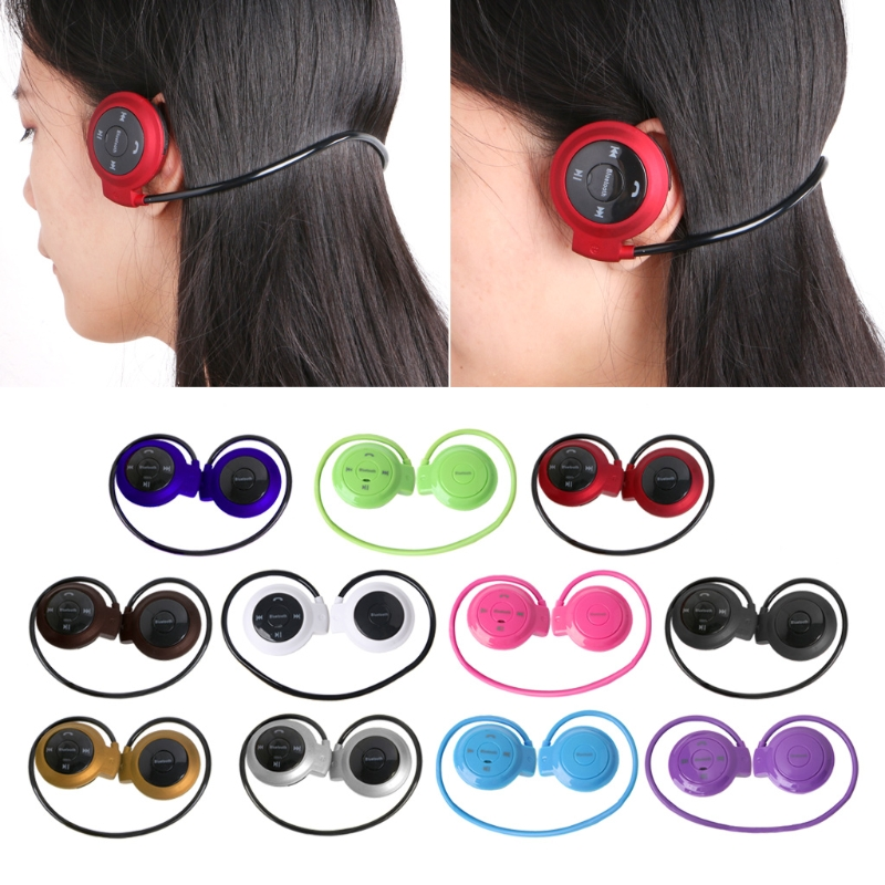 Mini 503 Ear Hook Wireless Bluetooth Neckband Headset Earphone Sports Headphone TF Slot MP3 Player With A2DP stylish neckband headphones mp3 player headset w fm tf card slot green black