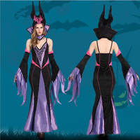 Halloween Witch Costume Queen of Europe and America Cosplay Stage Costume Fun Holiday Dress
