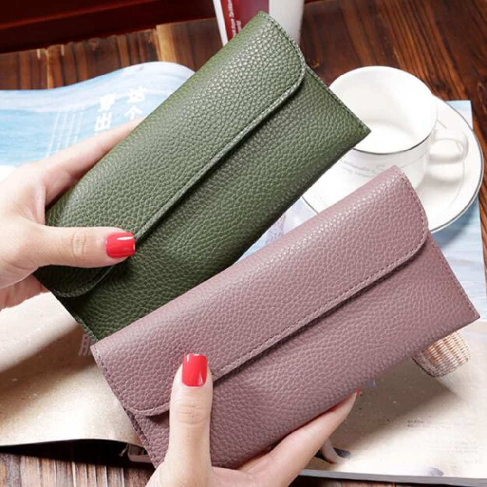 Best Sale Long Women Purses Fashion Coin Purse Card Holder Wallet Female Clutch Money Bag PU Leather Wallets Carteras Mujer